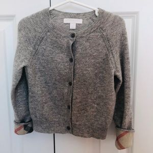 Burberry Grey cashmere sweater, 5Y